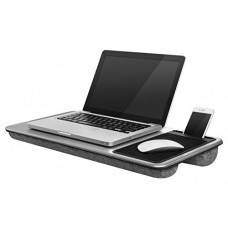 "LapGear Home Office Lap Desk - Silver Carbon (Fits up to 17.3"" Laptop)"