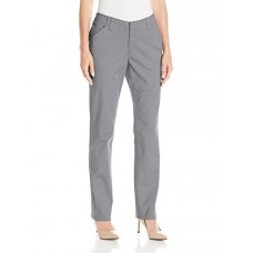 LEE Women's Midrise Fit Essential Chino Pant, Boulder Gray, 16