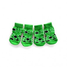 Clearance!! Pet Dog Cute Socks,Lelili Lovely Printed Warm Pet Dog Knitting Socks Shoes (L, Green)