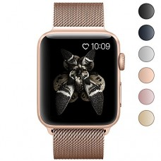 Lelong for Apple Watch Band,Milanese Loop Fully Magnetic Clasp Stainless Steel Mesh iWatch Band for Apple Watch Series 3 Series 2 Series 1 Sport & ...