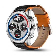Bluetooth Smart Watch, Polished Stainless Case, Android 5.1, GPS, Heart Rate Monitor
