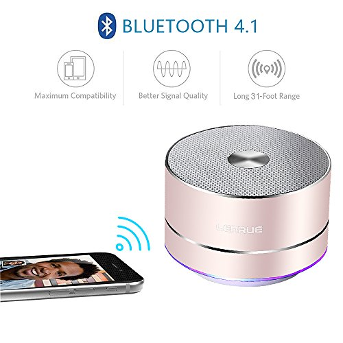LENRUE Portable Wireless Bluetooth Speaker with Built-in-Mic Handsfree Call