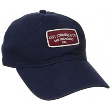 Levi's Men's Washed Baseball Dad Hat, Navy, One Size