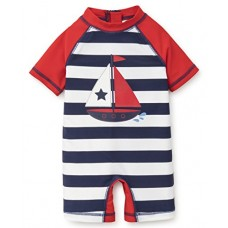Little Me Baby Boys' Rashguard Suit, Sailboat New, 12 Months