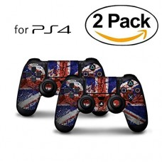 Skins for PS4 Controller - Decals for Playstation 4 Games - Stickers Cover for PS4 Slim Sony Play Station Four Controllers Pro PS4 Accessories PS4 ...