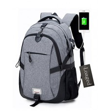 Anti-theft Laptop Backpack, Loaged Business Bags with USB Charging Port Water Resistant School Bookbag for College Travel Backpack for 15.6-Inch La...