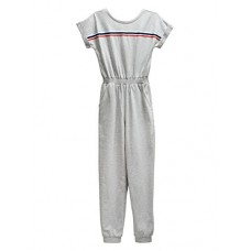 Maddie Retro Jumpsuit, Grey, Junior Small
