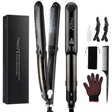 Steam Hair Straightener Flat Iron, Magicfly Professional Salon Ceramic Tourmaline Flat Iron with Vapor Heat up Fast, 360°Swivel Cord, 5 Modes For D...