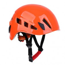 MagiDeal Safety Rock Climbing Caving Rappelling Rescue Helmet Scaffolding Head Protector - Orange, One Size
