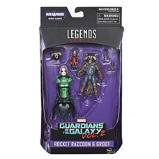 Marvel Guardians of the Galaxy Legends Series Rocket Raccoon & Groot, 6-inch