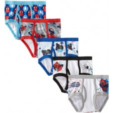 Marvel Little Boys' Spiderman 5 Pack Brief, Assorted, 8