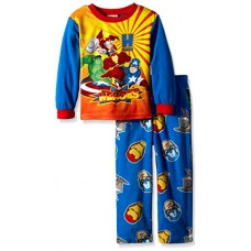 Marvel Little Boys' Toddler H Is For Heroes 2-Piece Pajama Set, Blue, 2T