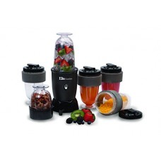 MaxiMatic EPB-1800 Elite Cuisine 300-Watt 17-Piece Personal Drink Blender - BPA Free, Black