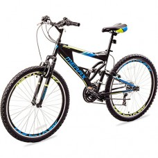 "Merax MS036323BAA Falcon Full Suspension Mountain Bike Aluminum Frame 21-Speed 26"" Bicycle"
