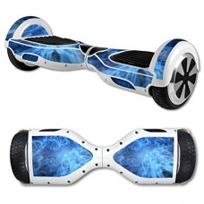 Skin Decal Wrap for Hover Board Balance Balancing Scooter Blue Flames