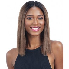 HARMONY 115 (1B Off Black) - MilkyWay Human Hair Blend Lace Front Wig