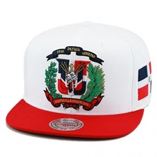 Mitchell & Ness Dominican Republic Snapback Hat Cap White/Red/DR Emblem