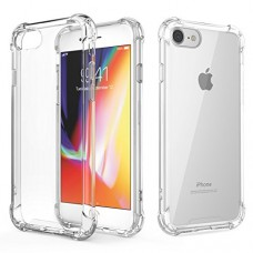 For iPhone 7 Case / iPhone 8 Case, MoKo Crystal Clear Shock Absorption Reinforced Corners TPU Bumper Cushion + Hybrid Rugged Transparent Panel Cove...