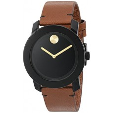 Movado Men's Swiss Quartz Stainless Steel and Leather Watch, Color: Brown (Model: 3600305)