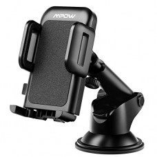 Mpow Car Phone Mount, Washable Strong Sticky Gel Pad with One-Touch Design Dashboard Car Phone Holder for iPhone X/8/8Plus/7/7Plus/6s/6Plus/5S, Gal...