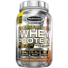 MuscleTech Premium Gold 100% Whey Protein, Premium Whey Protein Powder, Instantized and Ultra Clean 100% Whey Protein, Double Rich Chocolate, 2.23 ...