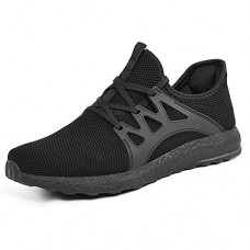 Mxson Womens Running Shoes Ultra Lightweight Breathable Mesh Walking Gym Shoes Black 8.5B(M) US