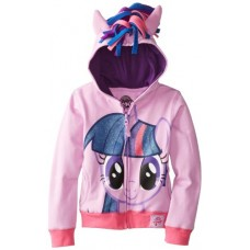 My Little Pony Big Girls' Twilight Sparkle Hoodie, Purple/Multi, 7/Small