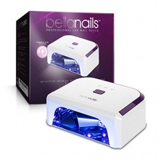 BellaNails Professional 21W LED Nail Lamp, Removable Base Tray, Auto On / Off Sensor, Works With All Gel Nail Polishes