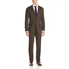 Nautica Men's Classic Fit 2 Button Side Vent Nested Suit, Brown, 44 Regular