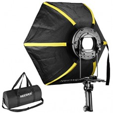 Neewer 20 inches/50 centimeters Professional Hexagonal Softbox Collapsible Diffuser with Handle Grip for Speedlight Studio Flash for Portrait or Pr...