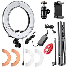 Neewer Ring Light 14-inch LED with Light Stand 36W 5500K Lighting Kit with Soft Tube,Color Filter,Hot Shoe Adapter,Bluetooth Receiver for Makeup,Ca...