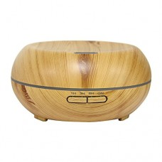 Aroma Cool Mist Humidifier, NEWOER 200ml Cool Mist Essential Oil Diffuser Wood Grain Design LED Humidifier for Office & Home & Dormitory & Yoga Spa