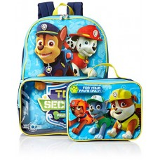 Nickelodeon Boys' Paw Patrol Backpack with Lunch, Light Blue