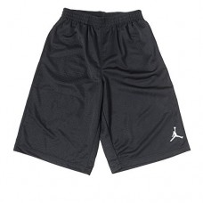 Boys Nike Air Jordan Mesh Athletic Shorts (Medium, Black)