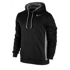 Men's Nike KO Hoodie 3.0 Black/Dark Grey Heather/Cool Grey Size XX-Large