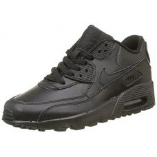 Nike 833412-001 Kid's Air Max 90 Leather Running Shoes, Black/Black, 7 M US Big Kid