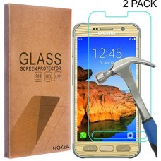 [2 Pack] Samsung Galaxy S7 Active Screen Protector, NOKEA [Tempered Glass] with [9H Hardness] [Crystal Clear] [Easy Bubble-Free Installation] [Scra...