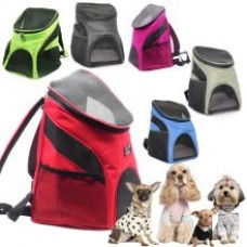 NUMBERNINE,Portable Pet Dog Cat Puppy Travel Double Shoulder Backpacks Sport Travel Outdoor Pet Space Carrier Bag Travel Products, Red,bicycle dog ...
