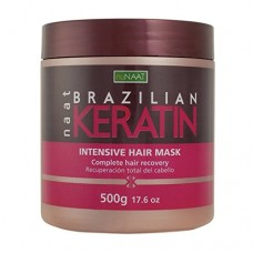 Nunaat Naat Brazilian Keratin Intensive Hair Mask, 17.6 oz (500g)