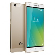 "NUU Mobile M2 5.0"" HD LTE Android 7.0 Smartphone, Gold"