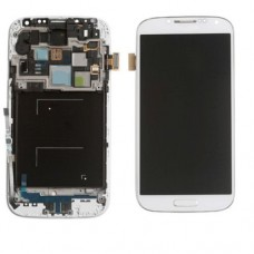 Ocamo LCD display Digitizer Touch Screen Assembly LCD Digitizer Touch Screen + Frame for Samsung Galaxy S4 i337 M919 i9500 i9505 i545 L720 R970 White