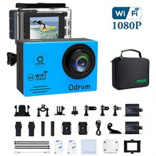 WIFI Action Camera Waterproof Cameras - HD 1080P Underwater Camera Diving 98FT Camcorder with 19PCS Accessories for Kids, Snorkeling, Motorcycle, B...