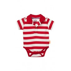 OFFCORSS Infant Newborn Baby Boy Polo Stripes Onesie Bodysuits Short Sleeve Red 6-9 Months Bodys Para Bebes Varon Recien Nacido Ropa Rojo 6-9 Meses