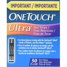 One Touch Ultra 3 Language English, Spanish and Portuguese Test Strips, 2 Boxes x 50 Strips, Total 100 Strips