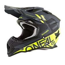 O'Neal 2SERIES Mens Off-Road SPYDE Helmet (Black/Hi-Viz, Medium)