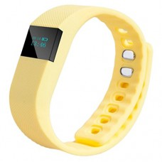 New Bluetooth Sport Bracelet ONEMORES(TM) Fitness Activity Tracker Pedometer Bracelet (OLED 64 32, Yellow, 1)