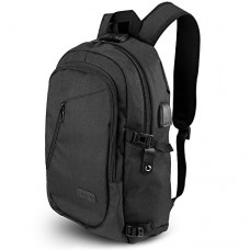 ONSON Anti-Theft Laptop Backpack,College Backpack with USB Charging Port,Water Resistant Backpack for Men&Women,Fits 15.6 Inch and below Laptop-Black