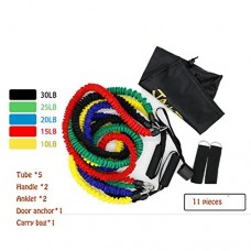 Osave Tube Resistance Bands Set 11 Pieces with Door Anchor, Ankle Straps, Carry Bag and Exercise Tube Bands.#2