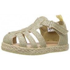 OshKosh B'Gosh Girls' Helga Glitter Fisherman Sandal, Gold, 7 M US Toddler