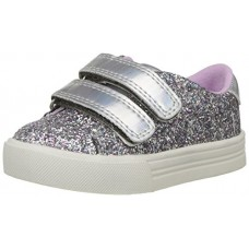 OshKosh B'Gosh Girls' Lucille Glitter Sneaker, Silver, 9 M US Toddler